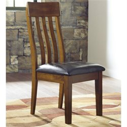 Signature Design by Ashley Furniture Ralene Upholstered Dining Room Side Chair in Medium Brown Finish