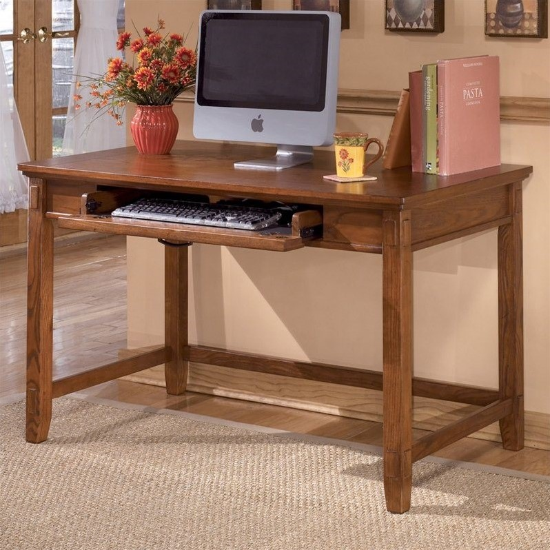 Ashley Furniture Cross Island Computer Desk in Medium  : 521741 L from www.cymax.com size 798 x 798 jpeg 169kB