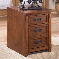 Signature Design by Ashley Furniture Cross Island 2-Drawer File Cabinet in Medium Brown