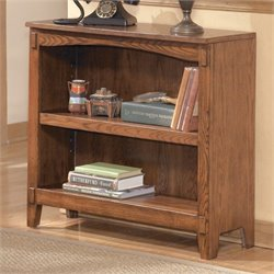 Ashley Furniture Cross Island Small 2 Shelf Bookcase in Medium Brown