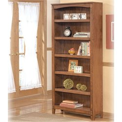 Signature Design by Ashley Furniture Cross Island Large 6-Shelf Bookcase in Medium Brown