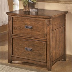 Signature Design by Ashley Furniture Cross Island 2-Drawer Lateral File Cabinet in Medium Brown