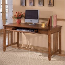 Signature Design by Ashley Furniture Cross Island Large Office Leg Desk in Medium Brown