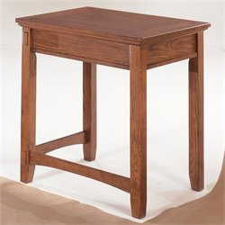 Ashley Furniture Cross Island Office Corner Table in Medium Brown