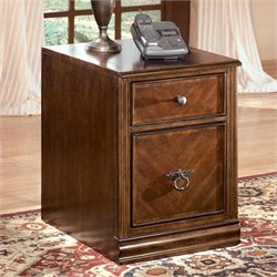 Ashley Furniture Hamlyn 2 Drawer File Cabinet in Medium Brown