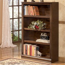 Ashley Furniture Hamlyn Medium 4 Shelf Bookcase in Medium Brown