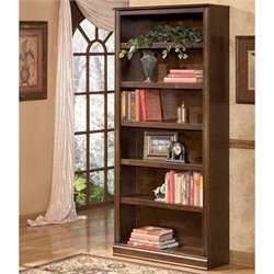 Signature Design by Ashley Furniture Hamlyn Large 6-Shelf Bookcase in Medium Brown