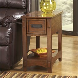 Signature Design by Ashley Furniture Breegin 1-Drawer Chairside End Table in Brown
