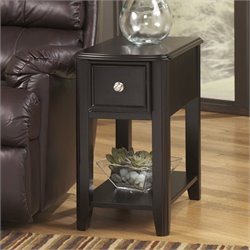 Signature Design by Ashley Furniture Breegin 1-Drawer Chairside End Table in Almost Black