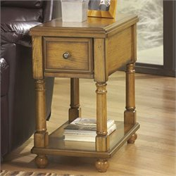 Signature Design by Ashley Furniture Breegin 1-Drawer Chairside End Table in Oak