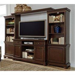 Signature Design by Ashley Furniture Porter Entertainment Center in Brown