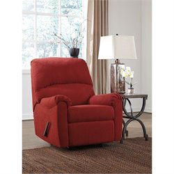 Signature Design by Ashley Furniture Zeth Rocker Recliner in Crimson