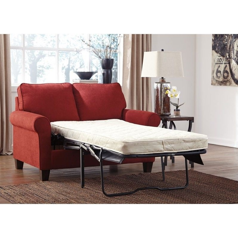 signature design by ashley furniture zeth twin sofa sleeper in crimson 2710237. Black Bedroom Furniture Sets. Home Design Ideas