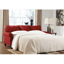 Signature Design by Ashley Furniture Zeth Queen Sofa Sleeper in Crimson