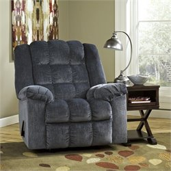 Signature Design by Ashley Furniture Ludden Rocker Recliner in Blue