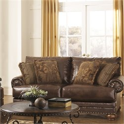 Signature Design by Ashley Furniture Chaling Loveseat in Antique
