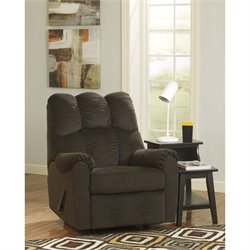 Signature Design by Ashley Furniture Raulo Rocker Recliner in Chocolate