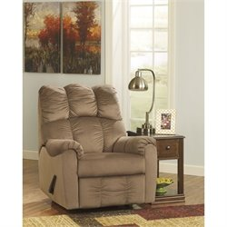 Signature Design by Ashley Furniture Raulo Rocker Recliner in Mocha