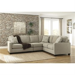 Signature Design by Ashley Furniture Alenya 3 Piece Sectional Sofa in Quartz