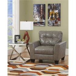 Ashley Furniture Paullie Leather Accent Chair in Quarry