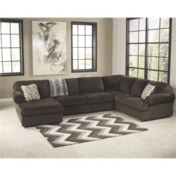 Signature Design by Ashley Furniture Jessa Place Sectional Sofa in Chocolate