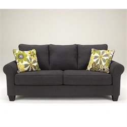 Signature Design by Ashley Furniture Nolana Microfiber Sofa in Charcoal