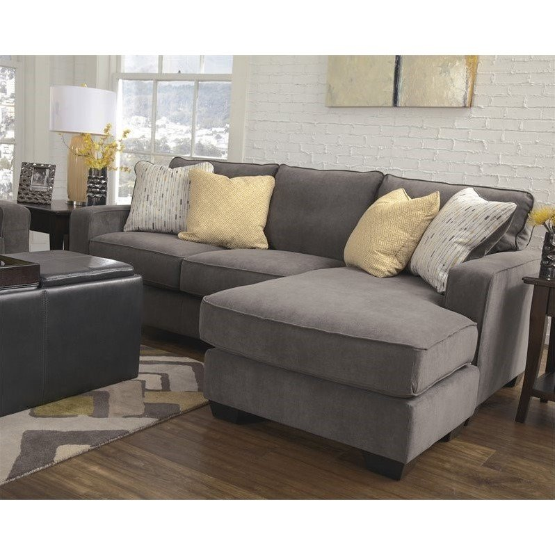 Ashleys Furnitur: Ashley Furniture Hodan Fabric 2 Piece Sectional In Marble