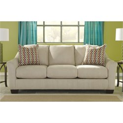 Signature Design by Ashley Furniture Hannin Fabric Sofa in Stone Beige