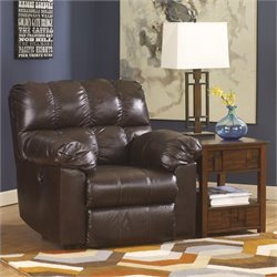 Ashley Furniture Kennard Leather Rocker Recliner in Chocolate