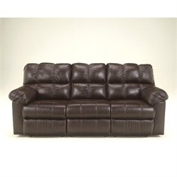 Ashley Furniture Kennard Leather Power Reclining Sofa in Chocolate