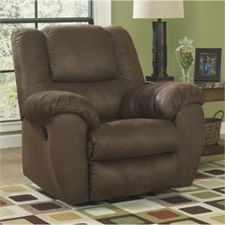 Ashley Furniture Quarterback Rocker Recliner in Canyon