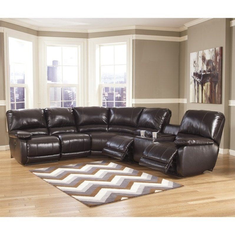 Ashley Furniture Capote Leather Power Reclining Sectional