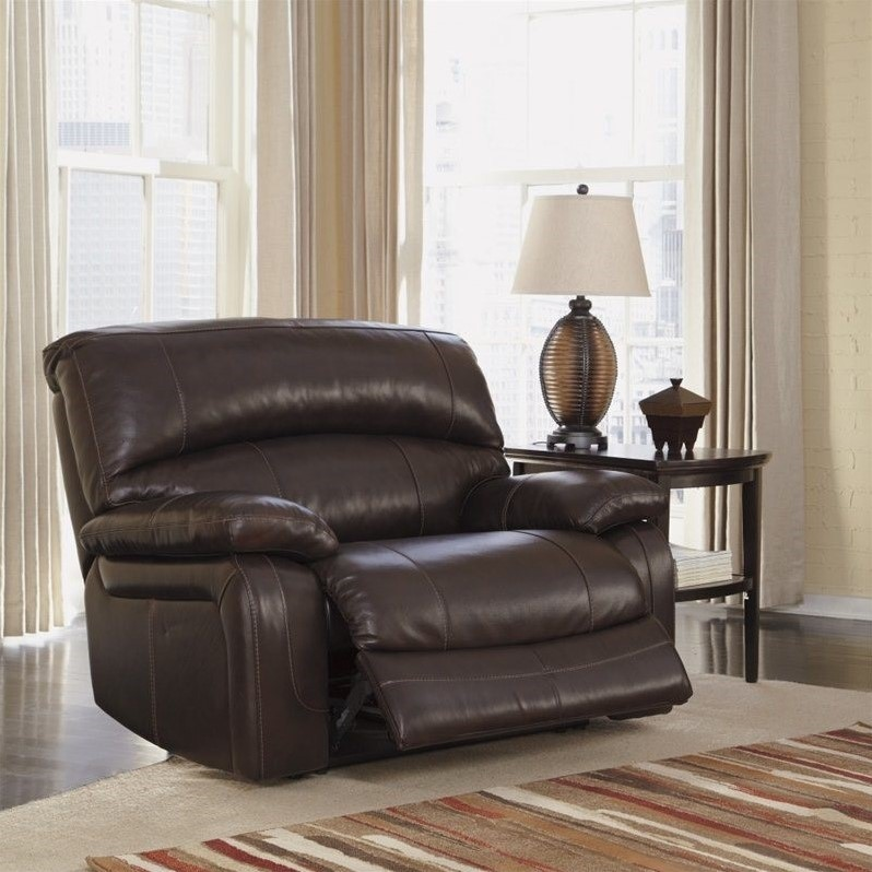 Ashley Furniture Damacio Leather Zero Wall Power Recliner