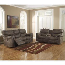 Ashley Furniture Alzena 2 Piece Reclining Sofa Set in Gunsmoke