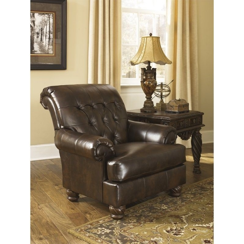 Ashley Furniture Fresco Durablend Leather Accent Chair in