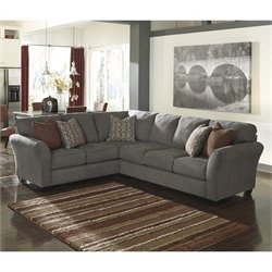 Ashley Furniture Doralin 2 Piece Sectional in Steel