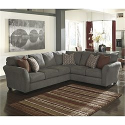 Signature Design by Ashley Furniture Doralin Left Corner Sectional in Steel