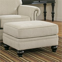 Signature Design by Ashley Furniture Milari Ottoman in Linen