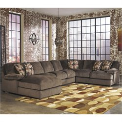 Signature Design by Ashley Furniture Truscotti 4 Piece Sectional in Cafe