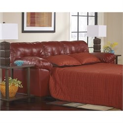 Ashley Furniture Alliston DuraBlend Queen Sleeper Sofa in Salsa