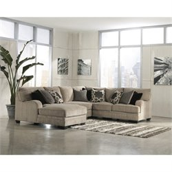 Signature Design by Ashley Furniture Katisha Fabric 4 Piece Sectional in Platinum