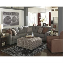 Signature Design by Ashley Furniture Doralin 4 Piece Sectional in Steel