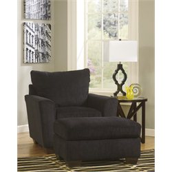 Signature Design by Ashley Furniture Brogain 2 Piece Fabric Accent Chair Set in Ebony