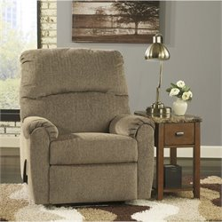 Ashley Pranit Chenille Zero Wall Recliner in Cork