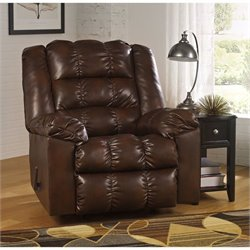 Ashley Hatton DuraBlend Rocker Recliner in Java