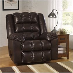 Ashley Hatton DuraBlend Rocker Recliner in Truffle