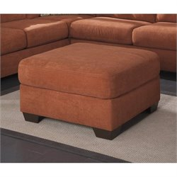 Ashley Delta City Oversized Accent Ottoman in Rust