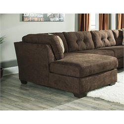 Ashley Delta City Left Corner Chaise Lounge in Chocolate