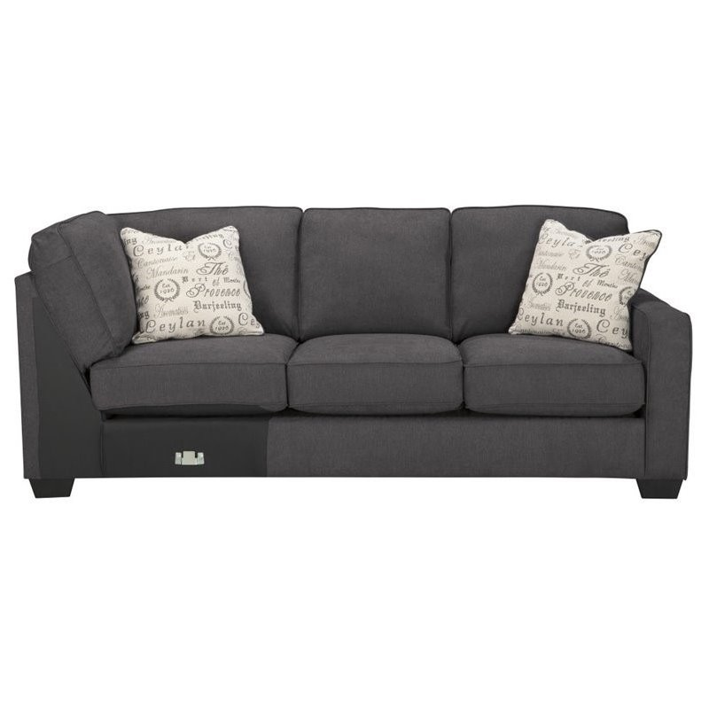 Ashley Furniture 2 Piece Sectional ashley furniture alenya 2 piece sectional in charcoal - 16601-55