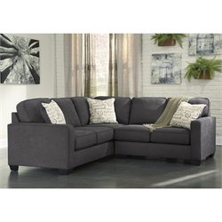 Ashley Alenya 2 Piece Left Facing Sectional in Charcoal